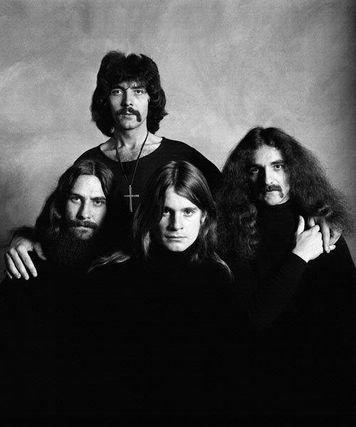 085. Постер: Состав Black Sabbath: Ozzy Osbourne, Tony Iommi, Geezer Butler и Bill Ward
