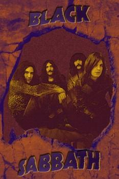 087. Постер: Black Sabbath, постер на камне