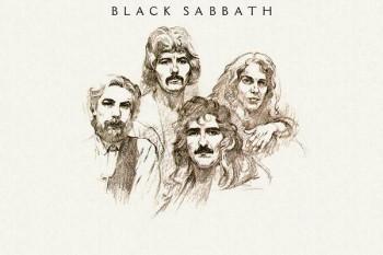 091. Постер: Нарисованные участники группы Black Sabbath