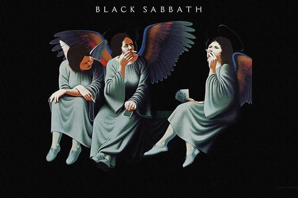 092. Постер: Black Sabbath - фигуры ангелов