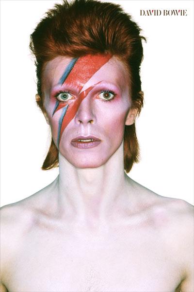 095-2. Постер: David.Bowie, боевой раскрас