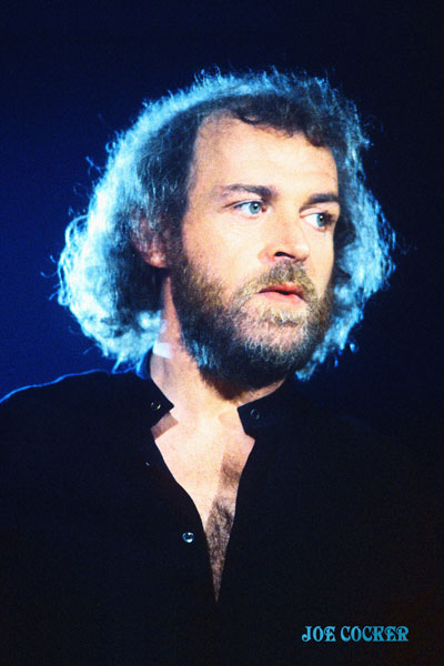 122-2. Постер: Joe Cocker - один из наиболее вокально сильных исполнителей британской рок сцены