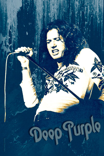 131-3. Постер: David Coverdale в составе Deep Purple