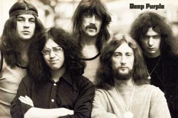 132. Постер: Deep Purple - легендарная рок-группа в период расцвета, 1970 г