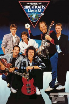 140. Постер: Dire Straits, британская рок-группа, исполняющая мелодичный Blues-rock