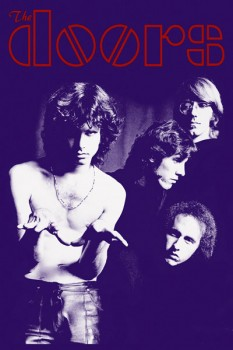 141. Постер: the Doors: Jim Morrison, Ray Manzarek, John Densmore и Robby Kriege