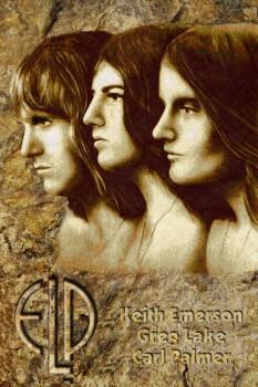 158-2. Постер: Emerson, Lake & Palmer - одна из первых британских супергрупп прогрессивного рока