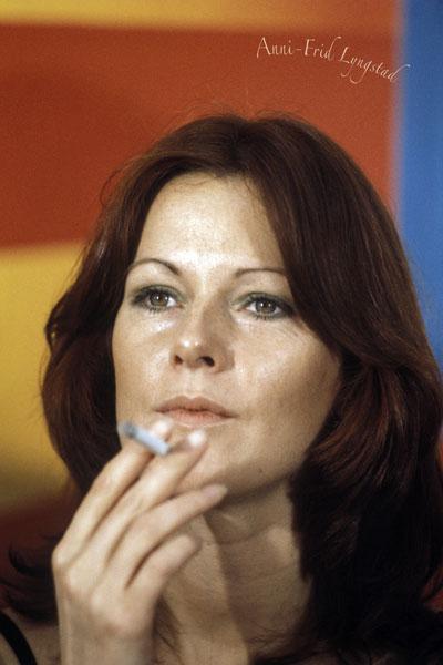 159-3. Постер: Вокалистка группы ABBA Anni-Frid lyngstad