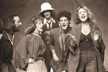161. Постер: Fleetwood Mac - успешная британо-американская группа, второй состав