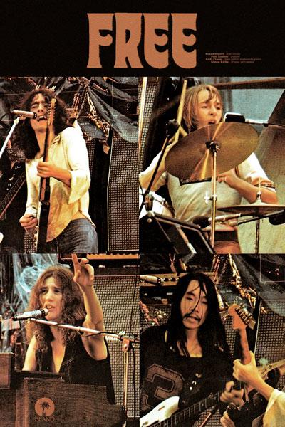 166-3. Постер: Free - английская хард рок группа, образованная в Лондоне 1968 году