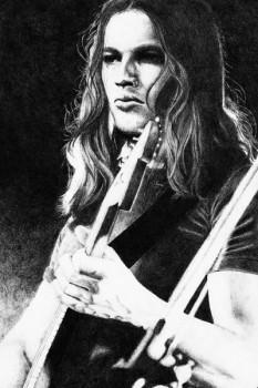 170. Постер: David Gilmour, один из лидеров легендарных Pink Floyd