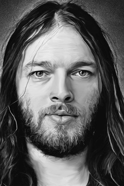 171. Постер: David Gilmour, британский композитор, гитарист, вокалист, один из лидеров группы Pink Floyd в 1975 году