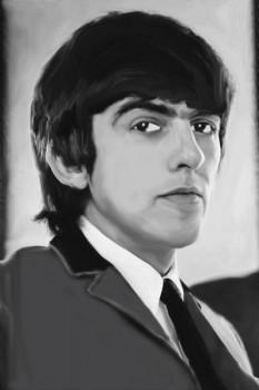 176. Постер: George Harrison - английский рок-музыкант, певец, композитор, писатель, продюсер и гитарист