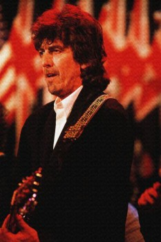 177. Постер: George Harrison играет на гитаре
