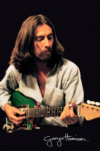 184. Постер: George Harrison на черном фоне