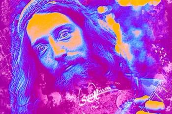 187-2. Постер: Steve Hillage- британский культовый рок-музыкант и гитарист, участник групп Gong и System 7