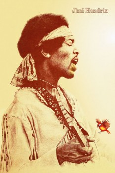 197. Постер: Композитор и величайший гитарист - Jimi Hendrix
