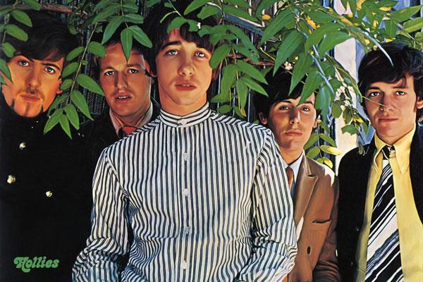 201. Постер: the Hollies. Группа была одной, из ведущих представителей Британского вторжения