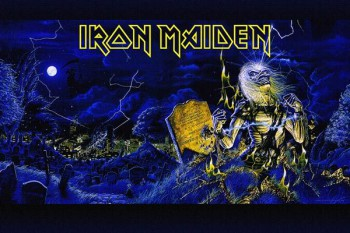 206. Постер: Iron Maiden, рисунок на холсте