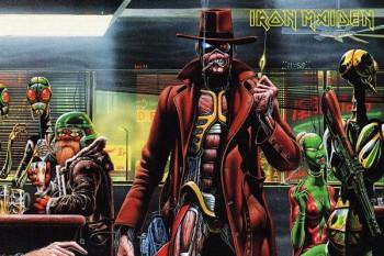 21211. Постер: Iron Maiden, рисунок к одной из ее работ