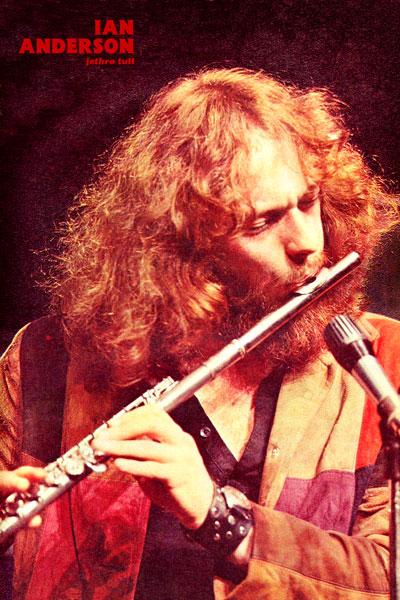 219-3. Постер: Мультиинструменталист, певец и композитор, лидер группы Jethro Tull - Ian Anderson