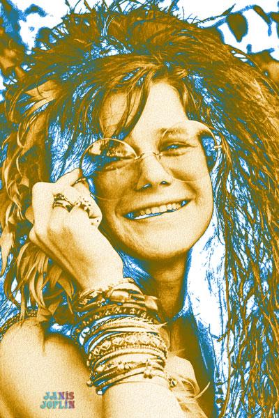 227. Постер: Одна из величайших вокалисток в истории рок-музыки - Janis Joplin