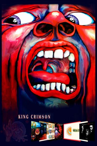 233-2. Постер: Обложка дебютного альбома британской группы King Crimson