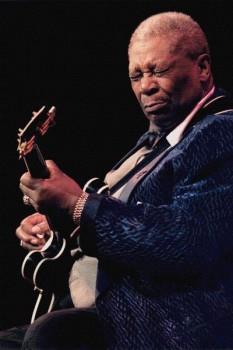233. Постер: B.B. King - американский блюзовый гитарист, настоящий король король блюза