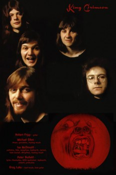 233-3. Постер: Главный представитель и основоположник мирового прогрессива - британская группа King Crimson