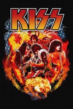237. Постер: Kiss - американская рок-группа образована в Нью-Йорке в январе 1973 года