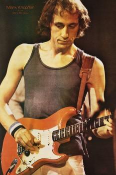 261. Постер: Mark Knopfler - композитор, вокалист и гитарист из группы Dire Straits