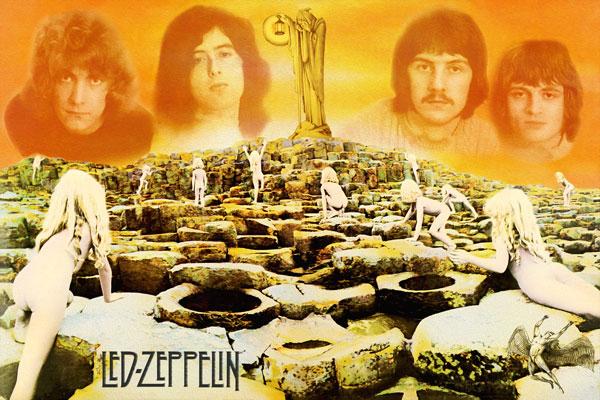 266-5. Постер: Led Zeppelin, коллаж c альбомом Houses of the Holy