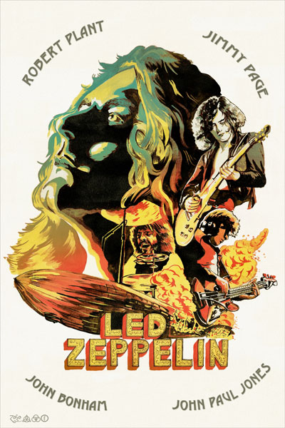 267-2. Постер: Led Zeppelin, рисунок на холсте