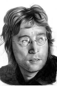 272. постер: John Lennon, рисунок карандашем
