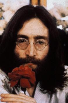 274. Постер: Старинная гравюра, John Lennon с розой