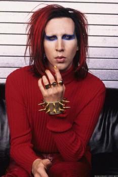 282. Постер: Marilyn Manson - вокалист и лидер одноименной группы