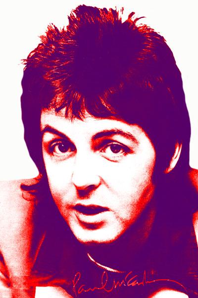 288-2. Paul Mc`Cartney, постер на белом