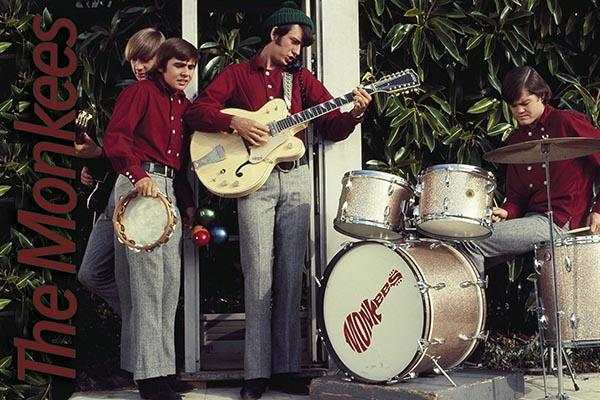 312-2. Постер: The Monkees: Peter Tork, Davy Jones, Mike Nesmith и Micky Dolenz