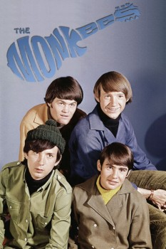 312. Постер: Музыкальная поп-группа the Monkees: ( David Jones, Mike Nesmith, Peter Tork, Micky Dolenz) в 1966