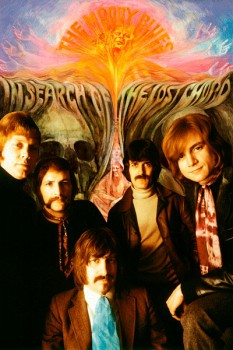 313-2. Постер: the Moody Blues, коллаж с альбомом In Search of the Lost Chord