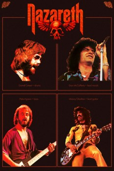 317-3. Постер: Nazareth в оригинальном составе: Dan McCafferty, Manny Charlton, Pete Agnew,Darell Sweet