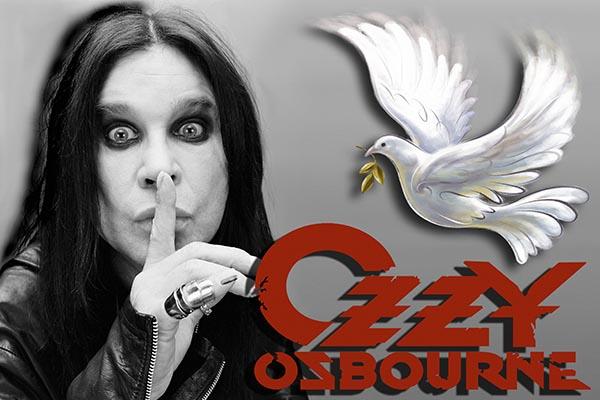 333. Постер: Ozzy Osbourne с белым голубем