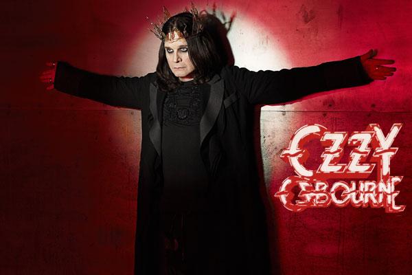 334. постер: Ozzy Osbourne в короне на красном