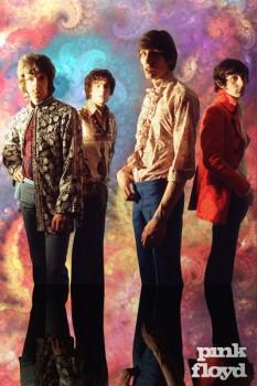 342-2. Постер: На заре творчества - Pink Floyd в 1967 году