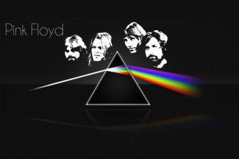 344. Постер: Pink Floyd с магическим треугольником с гениального альбома