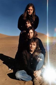 """345. Постер: Pink Floyd во время съемок фильма - концерта """"Live at Pompeii"""" в 1972"""