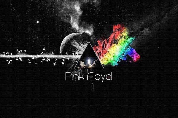 """347. Постер: Pink Floyd. Фантазия на тему """"Лазерное шоу"""""""