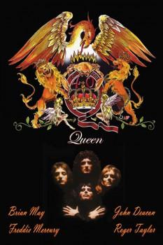 363. Постер: эмблема группы Queen