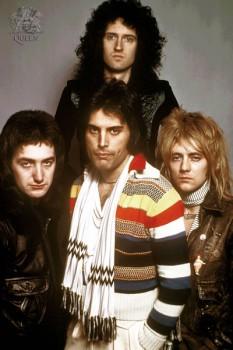 368. Постер: британская рок-группа Queen в 1977