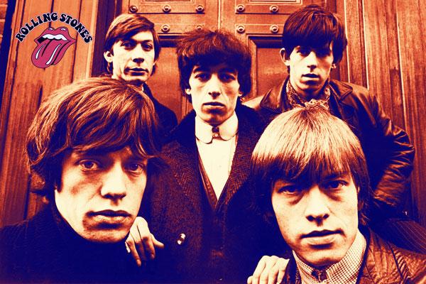 380. Постер: the Rolling Stones в конце 60-х